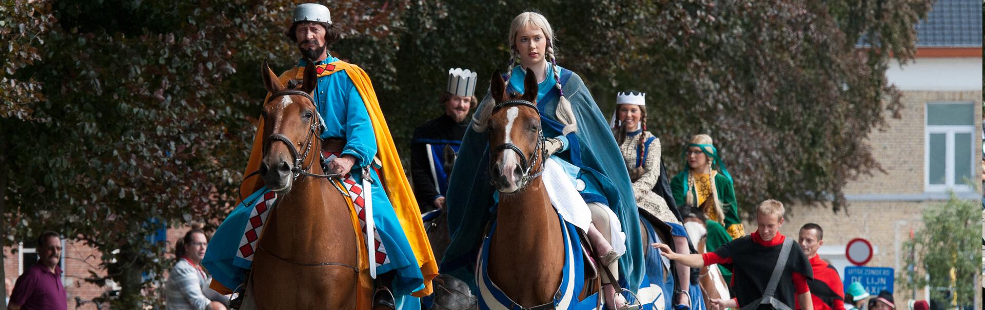 Banner Processie Paarden